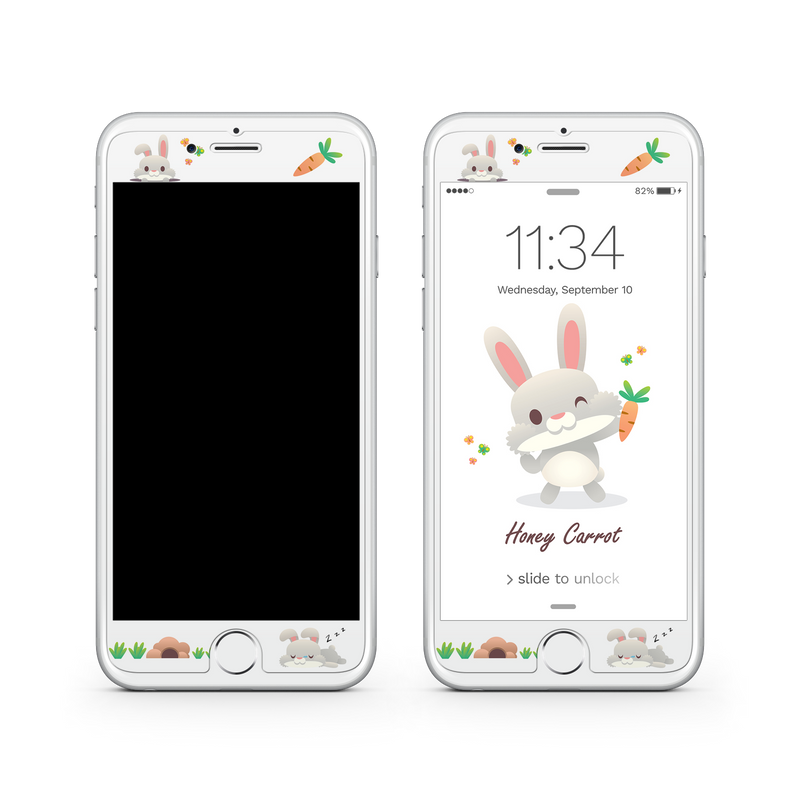 iPhone 8  Vivid Glass Screen Protector - Honey Carrot