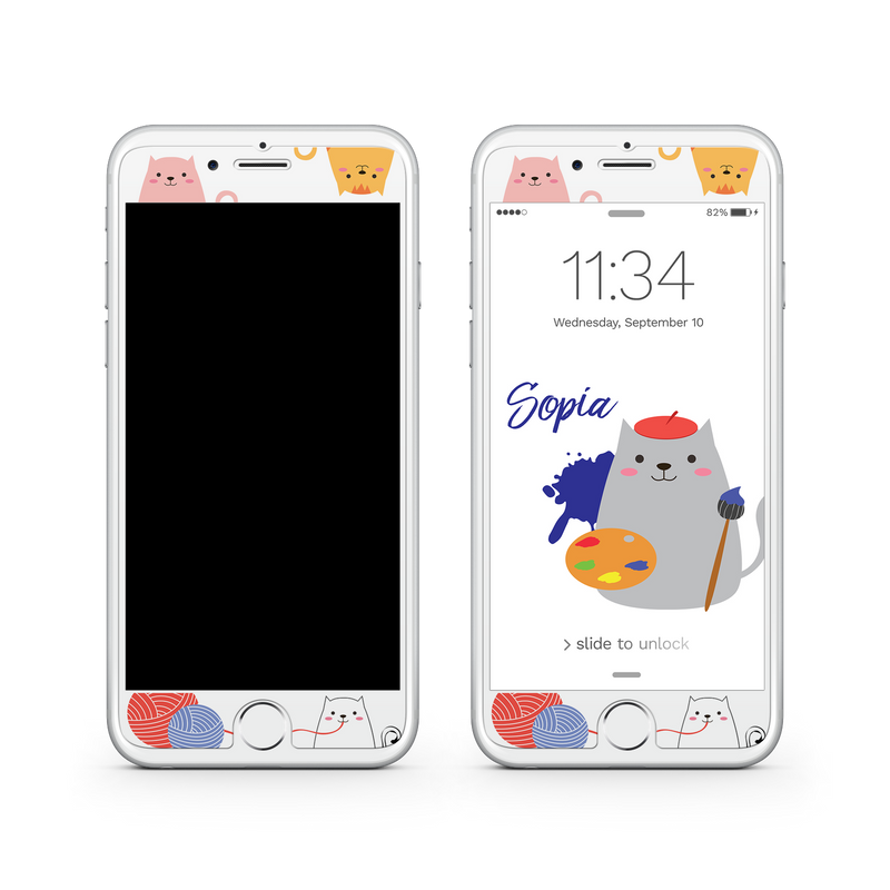 iPhone 6 | 6s Plus Vivid Glass Screen Protector - Cat Artist