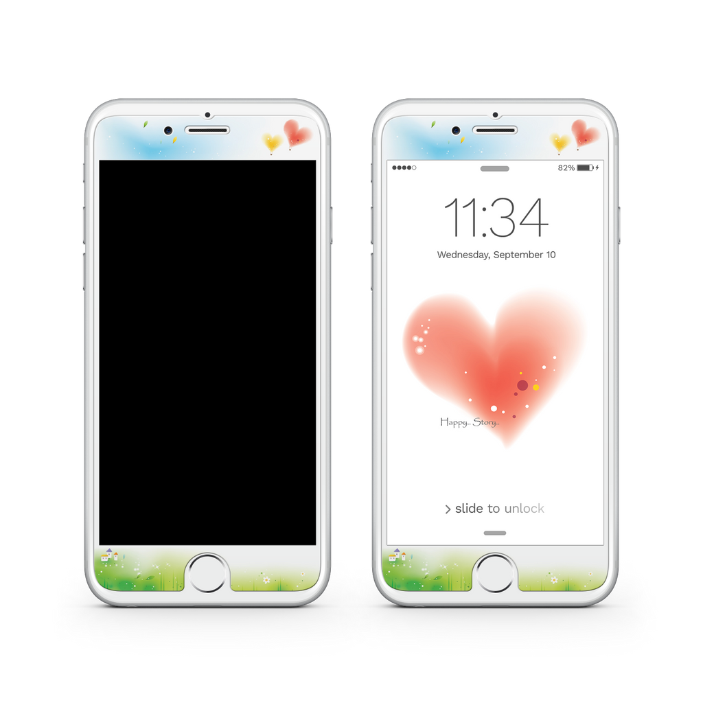 iPhone 7  Vivid Glass Screen Protector - Love Story