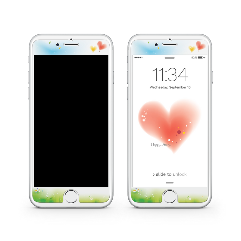 iPhone 7 Plus Vivid Glass Screen Protector - Love Story
