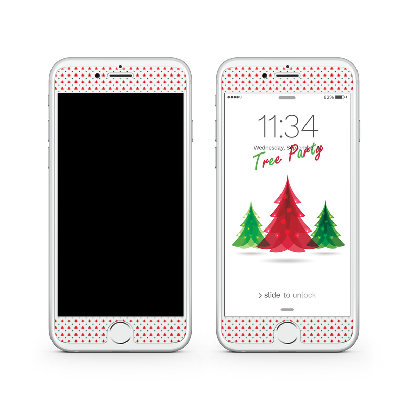 iPhone 7  Vivid Glass Screen Protector - Tree Festival