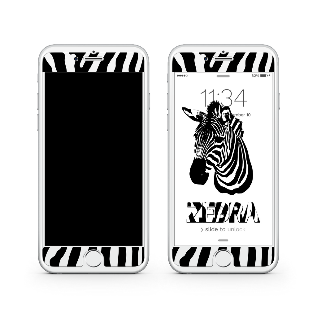 iPhone 7  Vivid Glass Screen Protector - Zebra