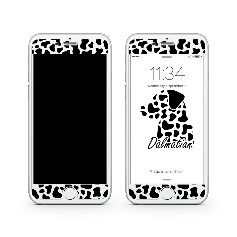 iPhone 8  Vivid Glass Screen Protector - Dalmatian