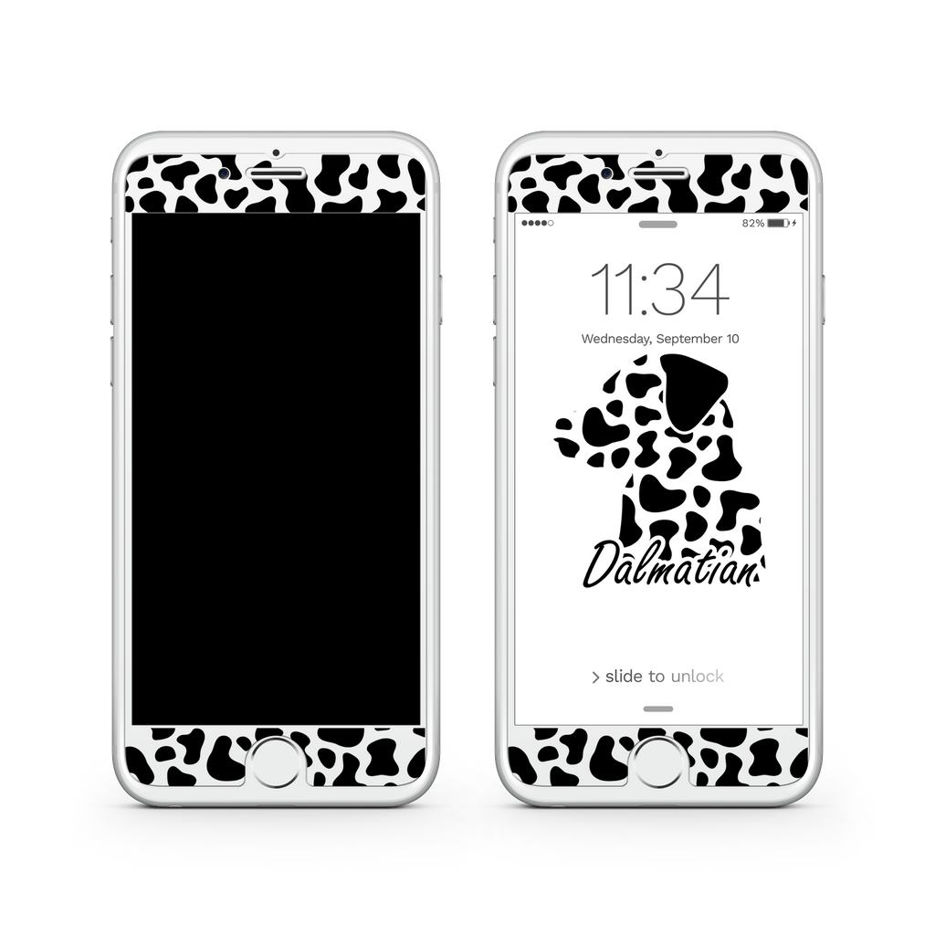 iPhone 7  Vivid Glass Screen Protector - Dalmatian