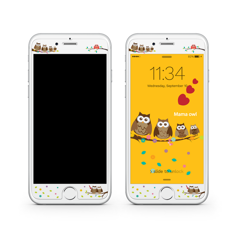 iPhone 8  Vivid Glass Screen Protector - Owl Family