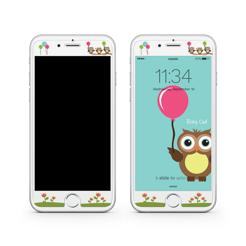 iPhone 7 Plus Vivid Glass Screen Protector - Baby Owl