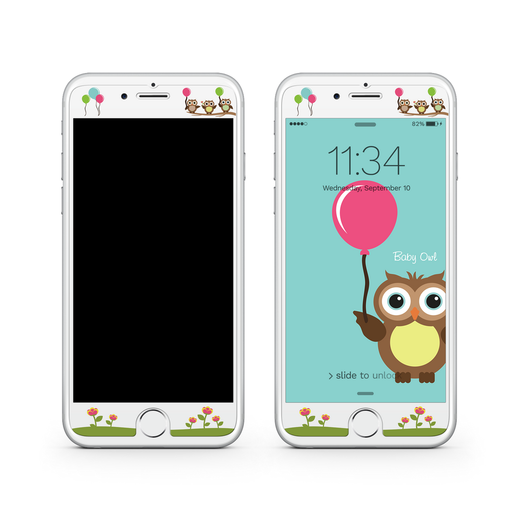 iPhone 7  Vivid Glass Screen Protector - Baby Owl