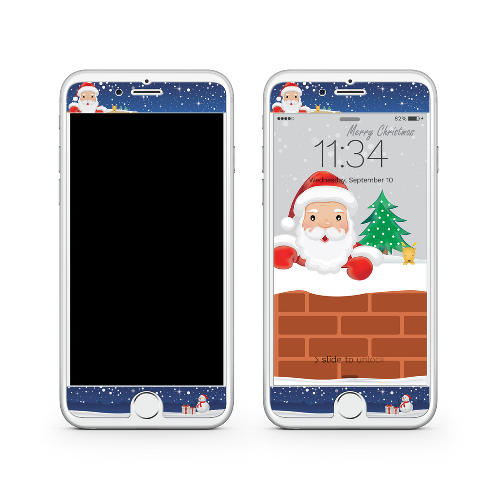 iPhone 7 Plus Vivid Glass Screen Protector - Sneaky Santa