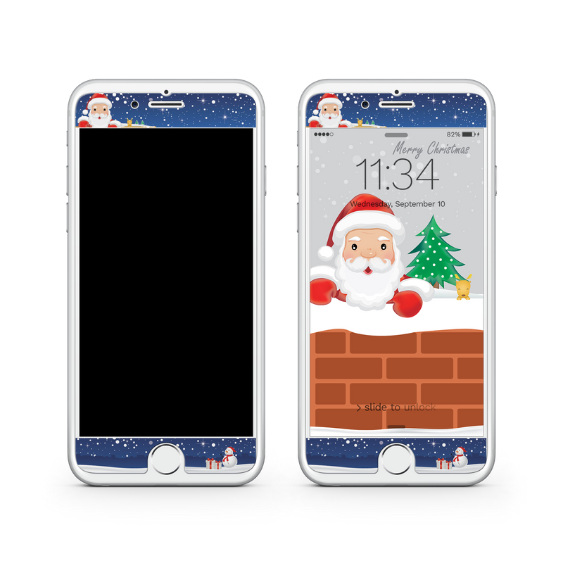 iPhone 8  Vivid Glass Screen Protector - Sneaky Santa