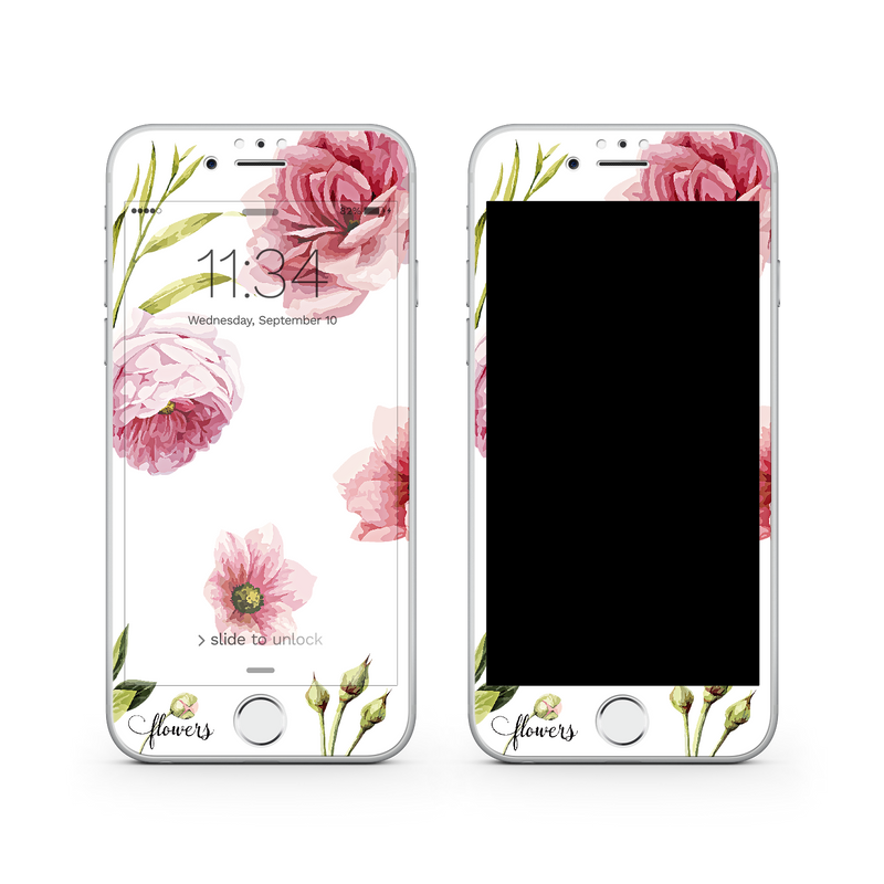 iPhone 7  Vivid Glass Screen Protector - Full Blossom