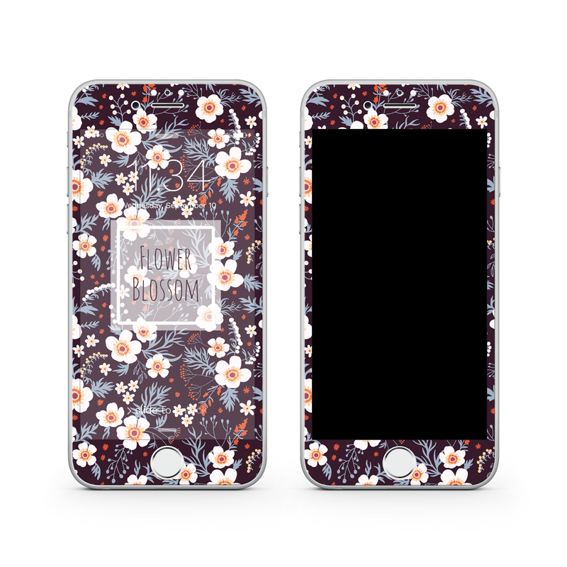 iPhone 7 Plus Vivid Glass Screen Protector - Flower Blossom