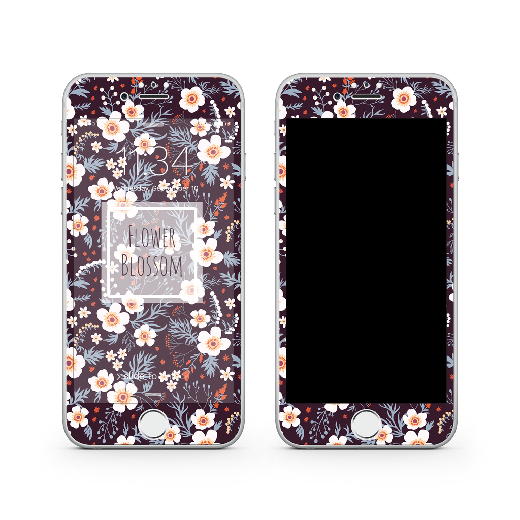 iPhone 7  Vivid Glass Screen Protector - Flower Blossom
