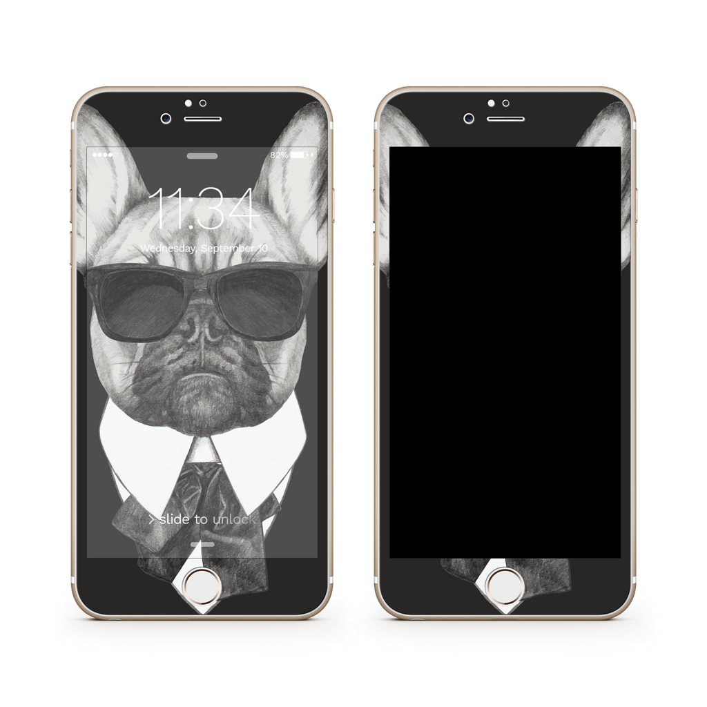 iPhone 7 Plus Vivid Glass Screen Protector - Brother Pug