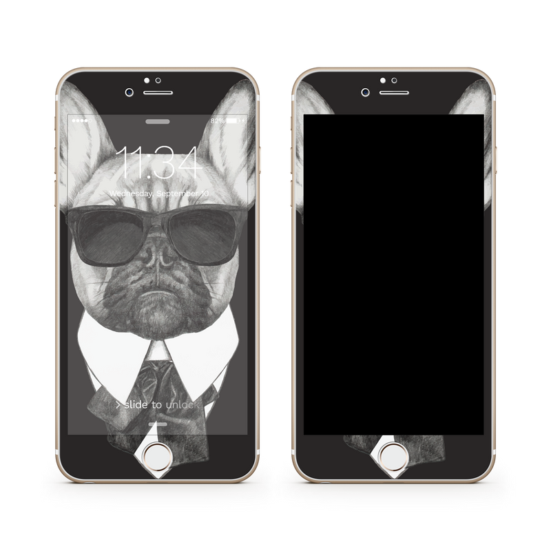 iPhone 7  Vivid Glass Screen Protector - Brother Pug