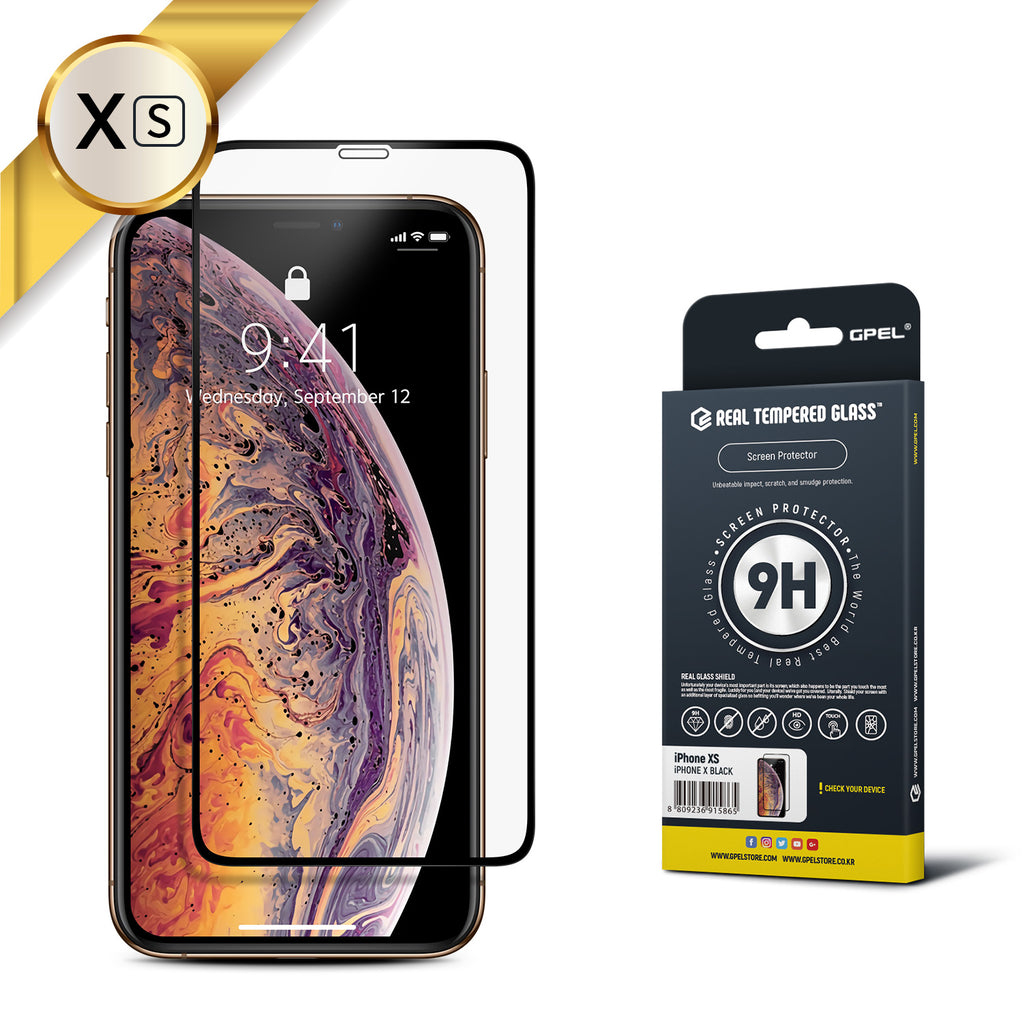 iPhone XS Real Tempered Glass Screen Protector - 1 Pack
