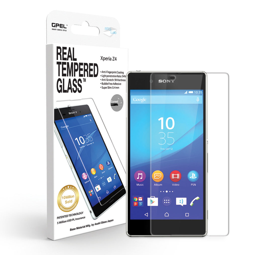 Sony Xperia Z4 Screen Protector - Real Tempered Glass - GPEL  - 1