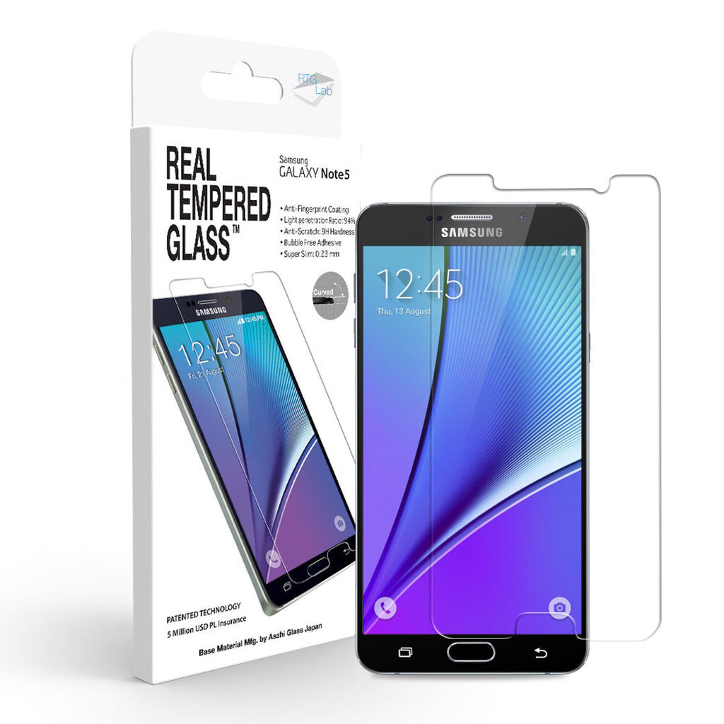 Galaxy Note 5 Screen Protector - Real Tempered Glass - GPEL  - 1