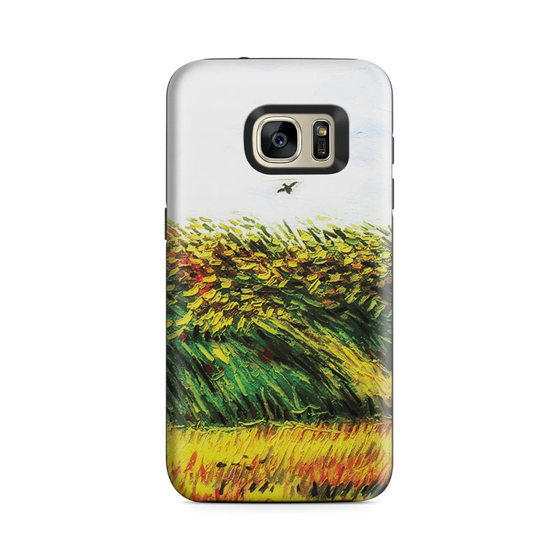 Galaxy S7 Adventure Case - Edge of a Wheat Field with Poppies and a Lark by Vincent Van Gogh