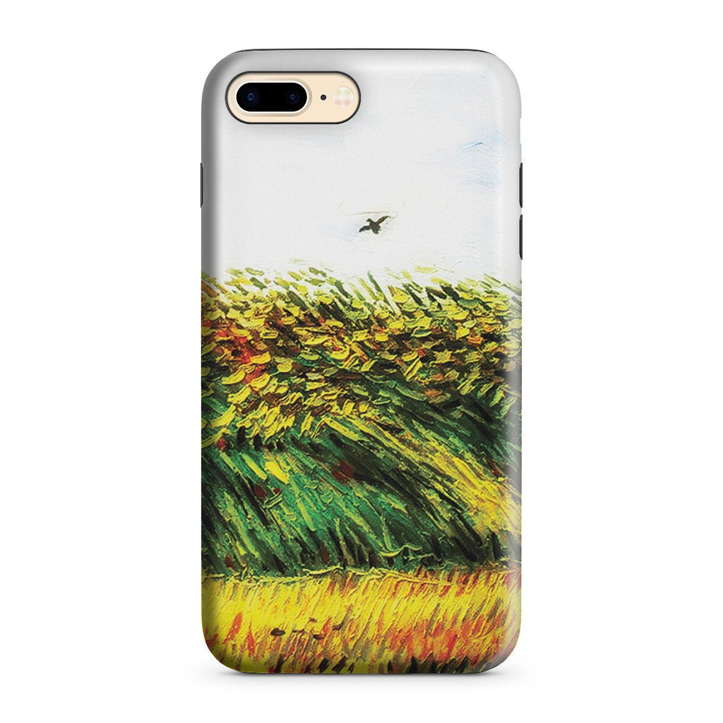 iPhone 8 Plus Adventure Case - Edge of a Wheat Field with Poppies and a Lark by Vincent Van Gogh
