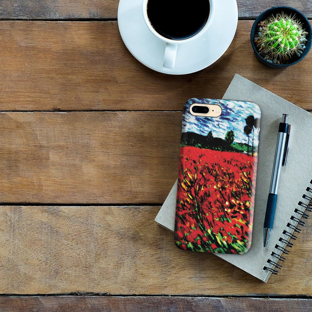 iPhone 8 Plus Adventure Case - Field of Popples by Vincent Van Gogh