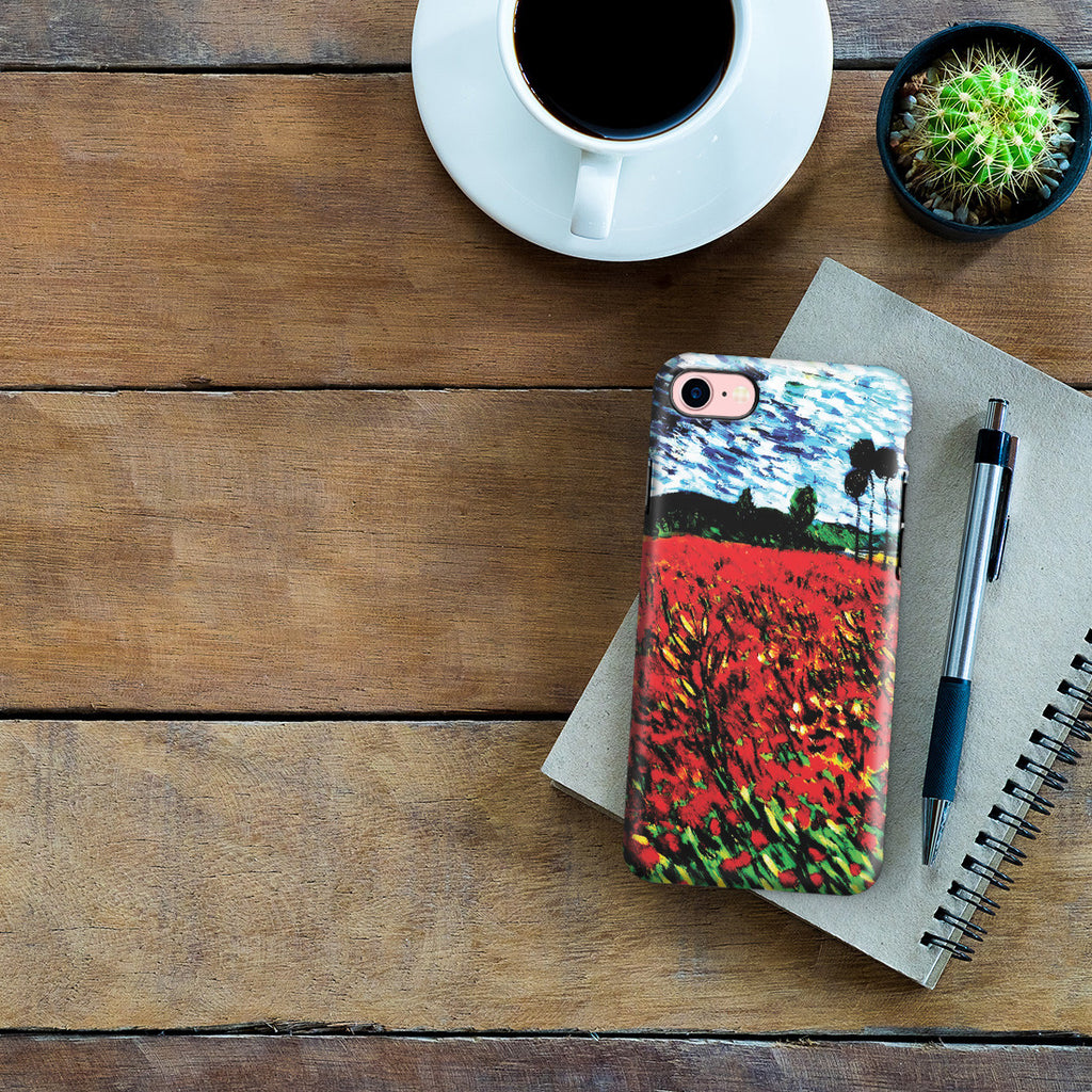 iPhone 7 Adventure Case - Field of Popples by Vincent Van Gogh