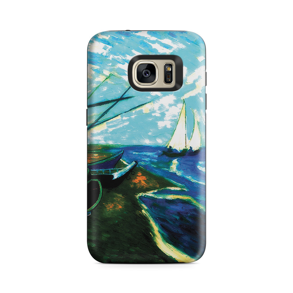 Galaxy S7 Adventure Case - Fishing Boats on the Beach at Saintes-Marles