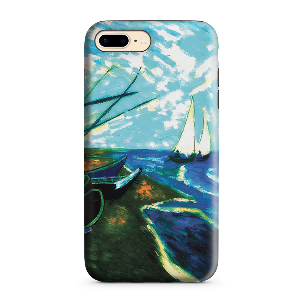 iPhone 7 Plus Adventure Case - Fishing Boats on the Beach at Saintes-Marles
