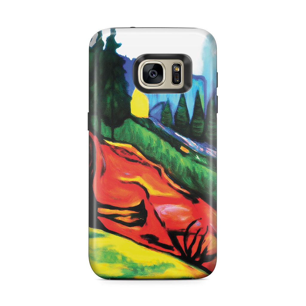 Galaxy S7 Edge Adventure Case - From Thuringewald, 1905 by Edvard Munch