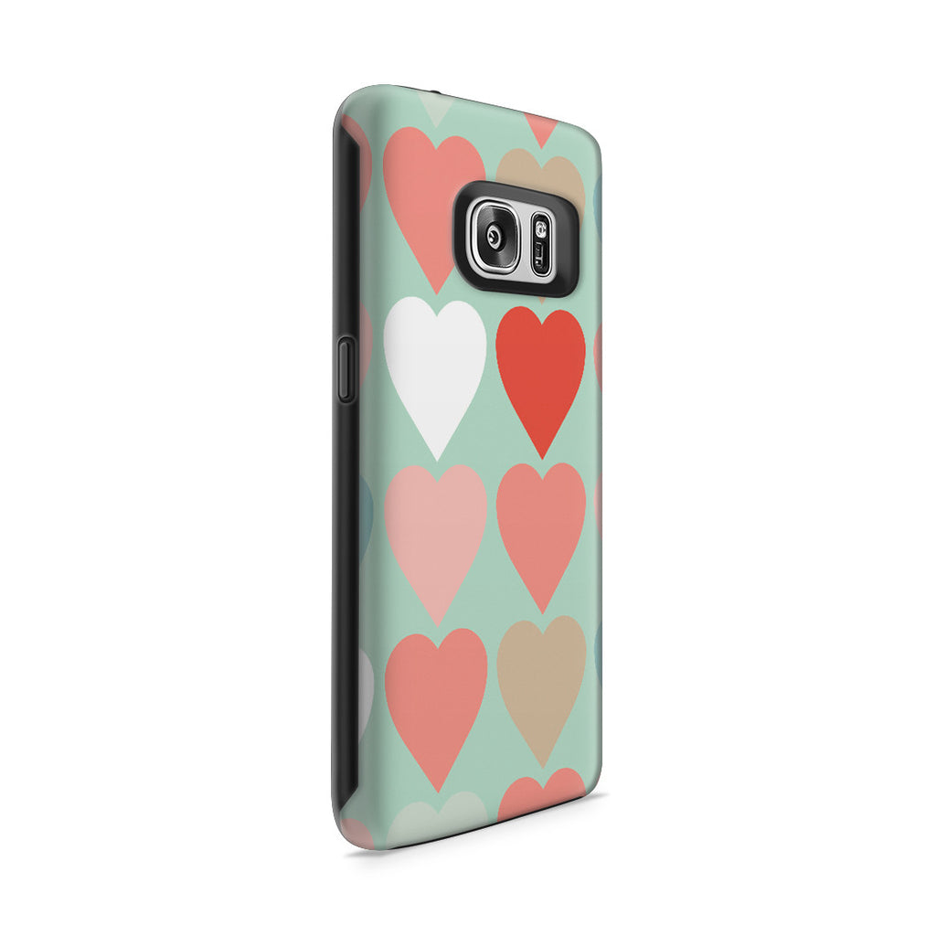 Galaxy S7 Adventure Case - Candy Hearts