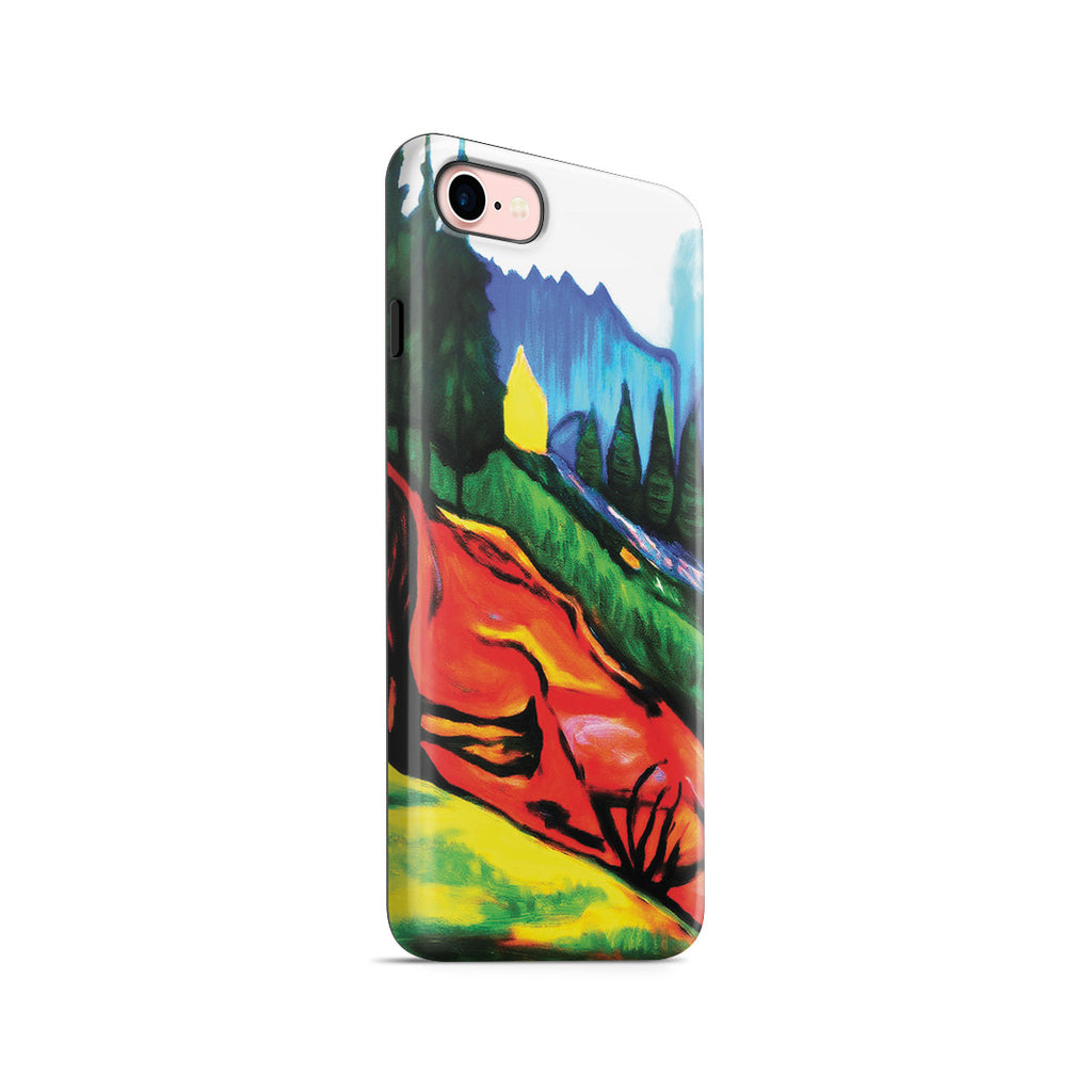 iPhone 7 Adventure Case - From Thuringewald, 1905 by Edvard Munch