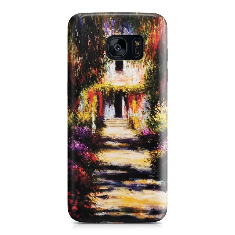 Galaxy S7 Edge Case - Garden Path at Giverny by Claude Monet