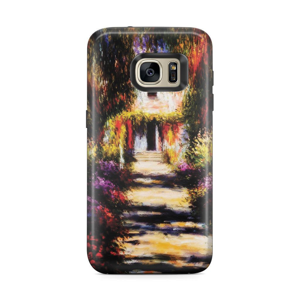 Galaxy S7 Edge Adventure Case - Garden Path at Giverny by Claude Monet
