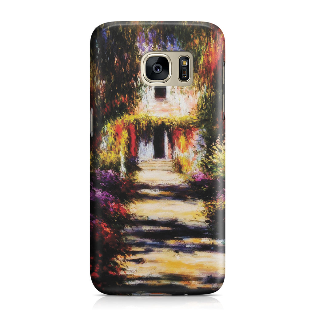 Galaxy S7 Case - Garden Path at Giverny by Claude Monet
