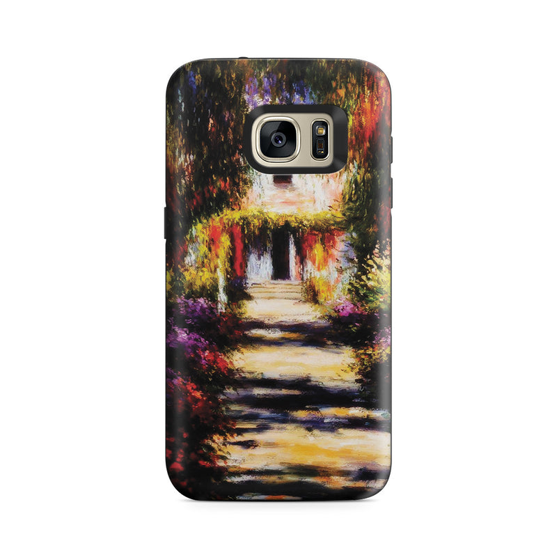 Galaxy S7 Adventure Case - Garden Path at Giverny by Claude Monet