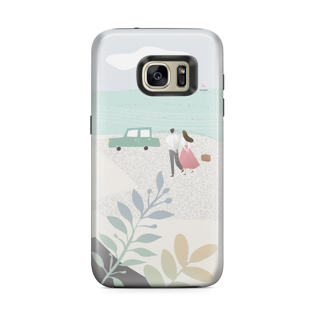 Galaxy S7 Edge Adventure Case - Long Walks on the Beach
