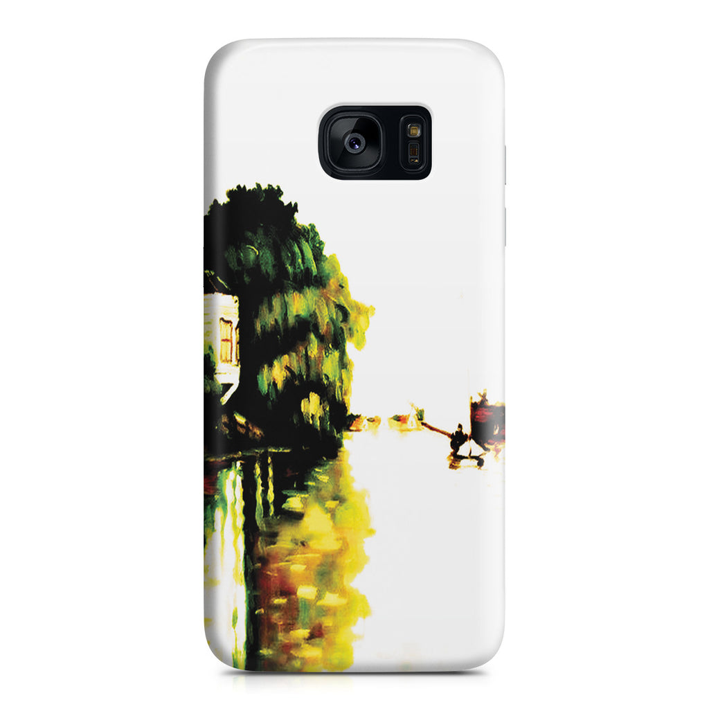 Galaxy S7 Edge Case - Houses on the Achterzaan by Claude Monet