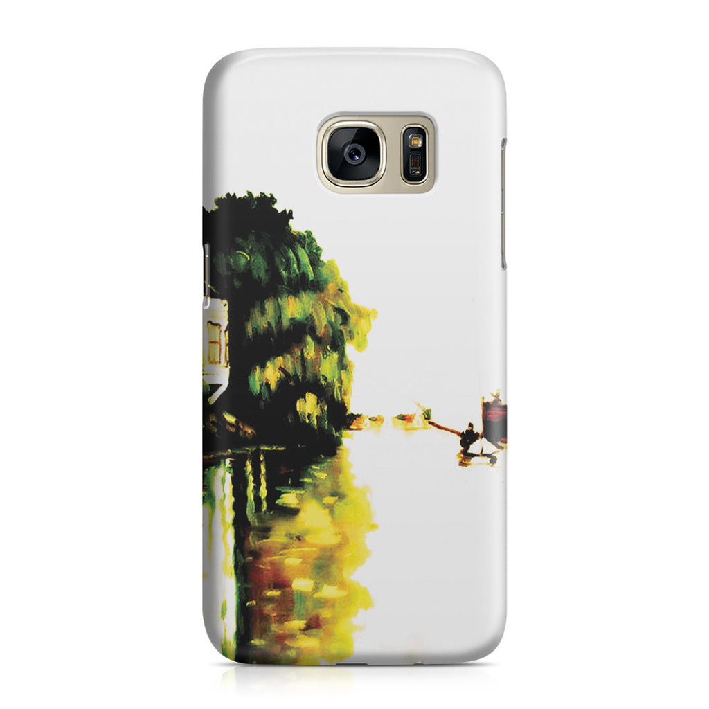 Galaxy S7 Case - Houses on the Achterzaan by Claude Monet