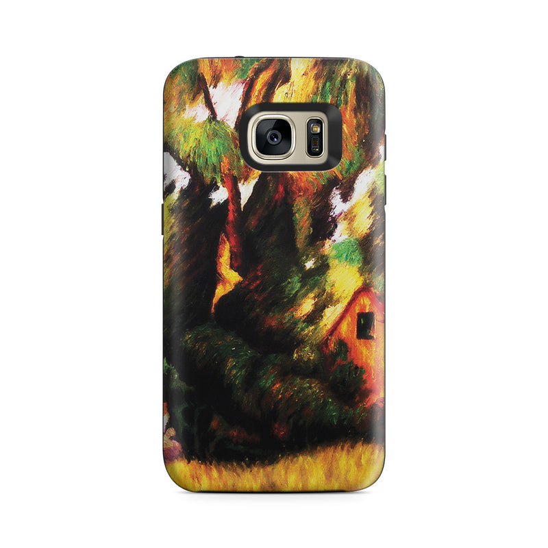 Galaxy S7 Adventure Case - Huttes Sous Les Arbres, 1887 by Paul Gauguin