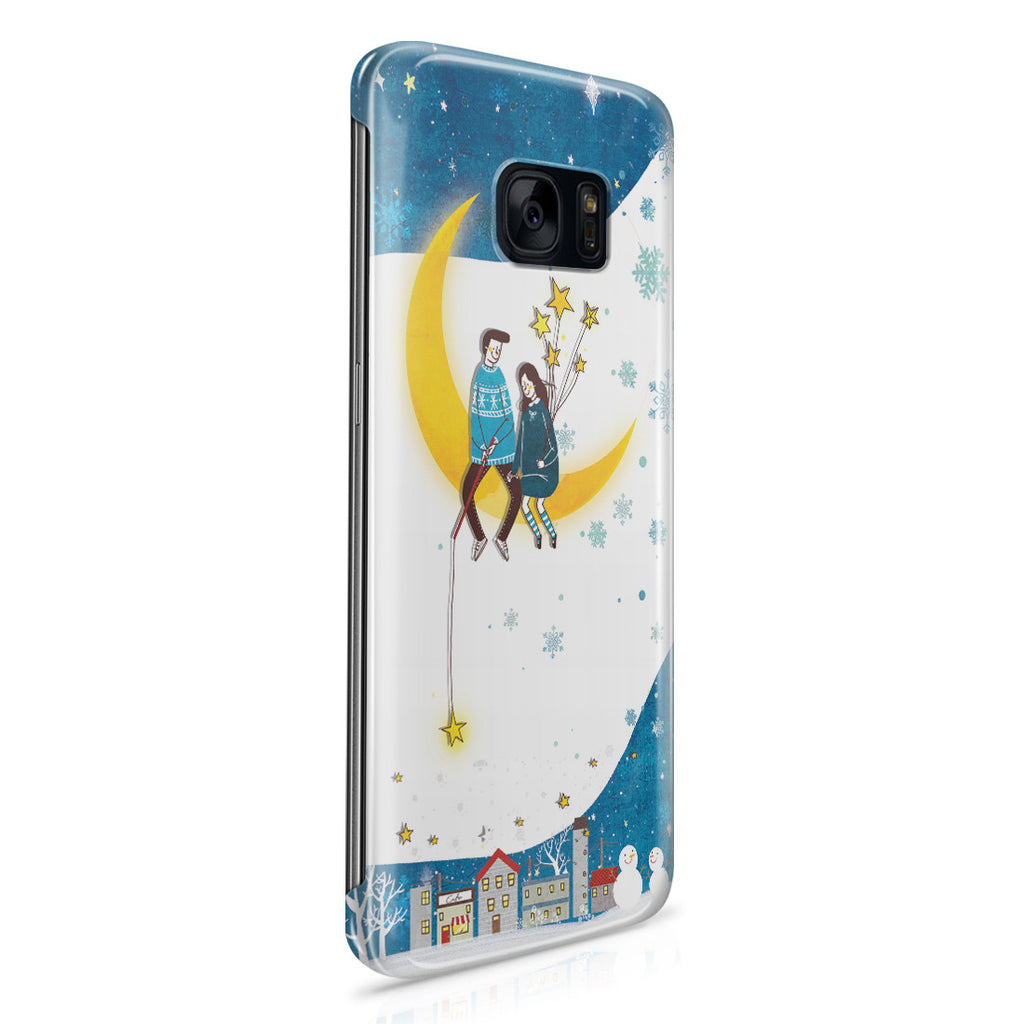 Galaxy S7 Edge Case - You Are My Moon and All My Stars