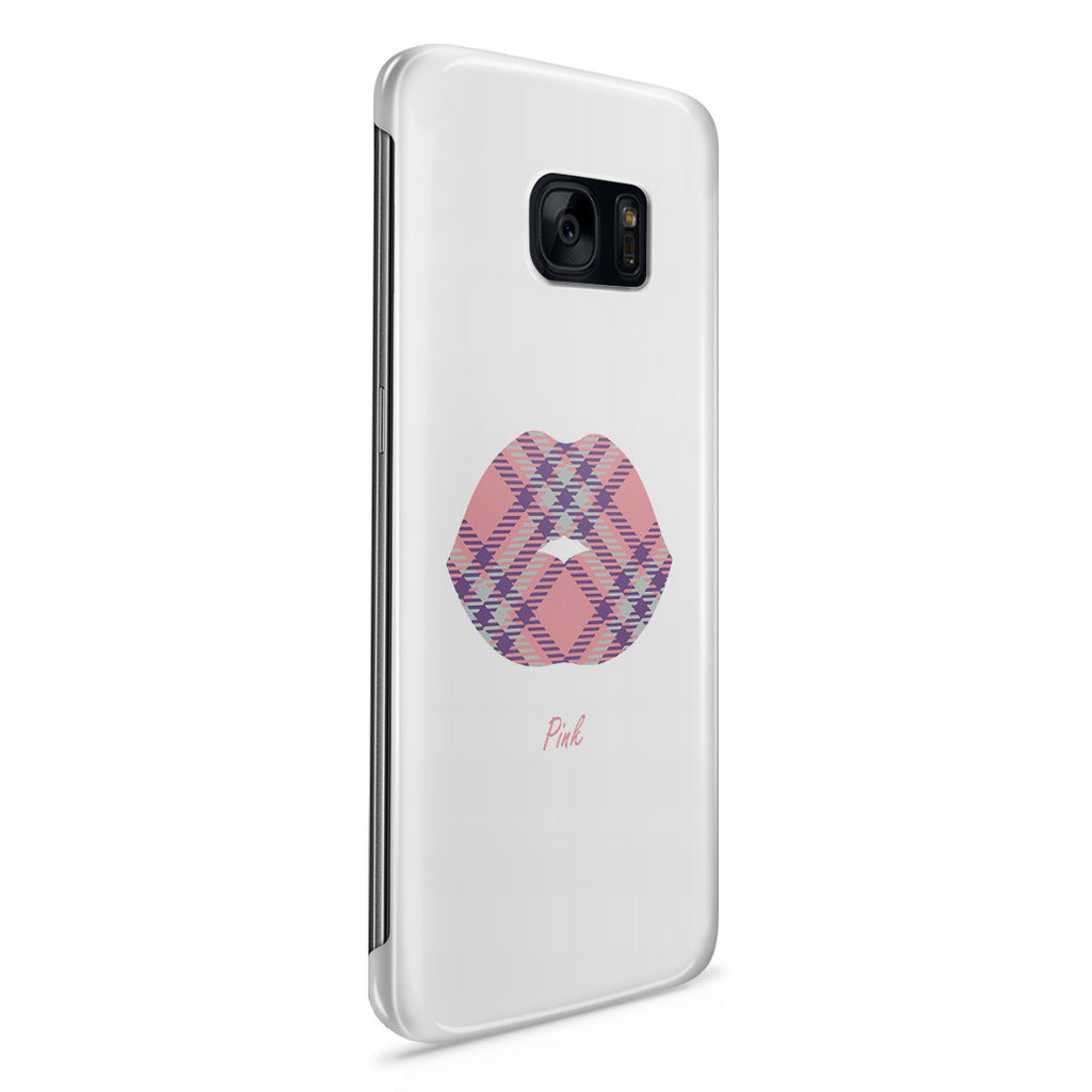 Galaxy S7 Edge Case - Pink Kisses