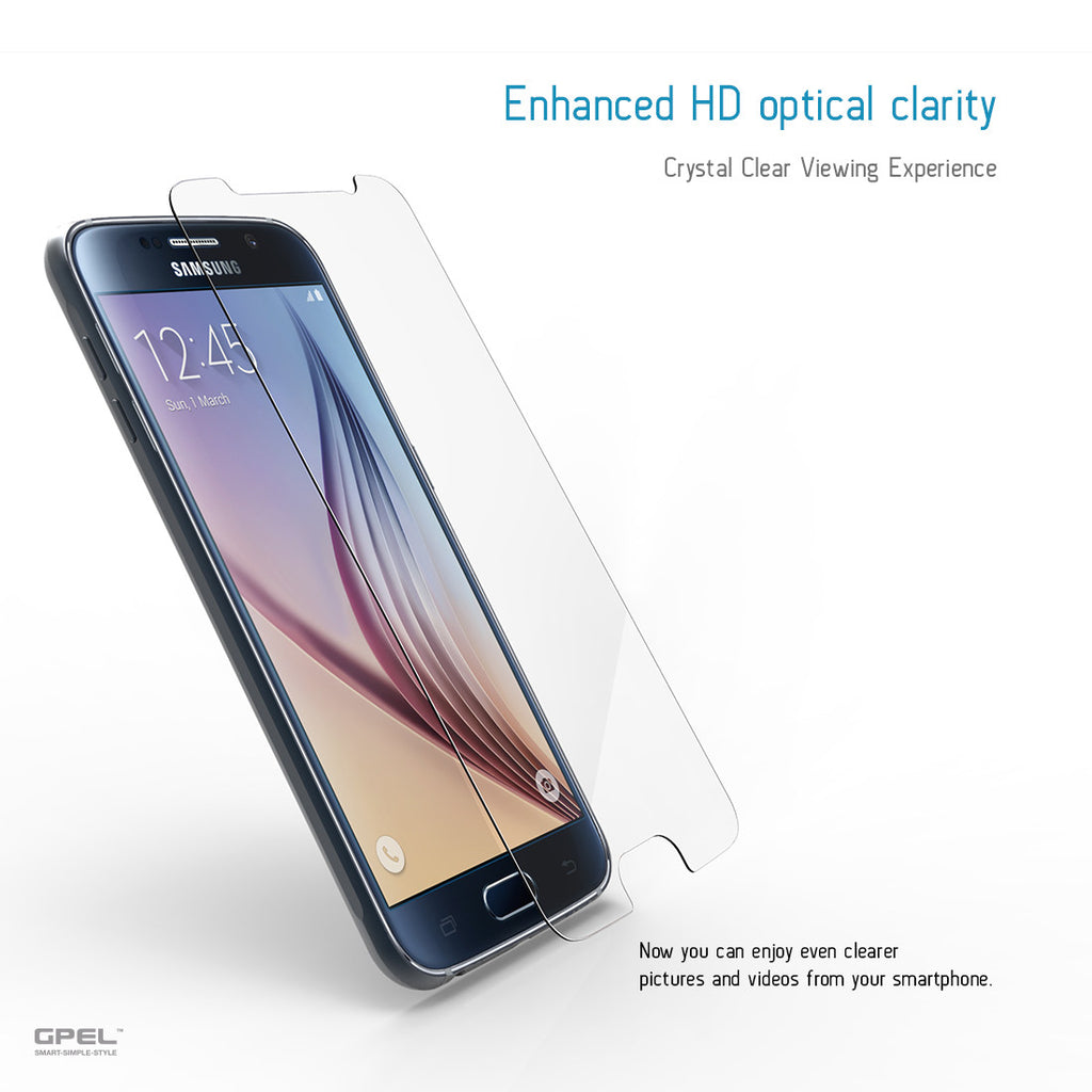 Galaxy S6 Screen Protector - Real Tempered Glass - GPEL  - 2