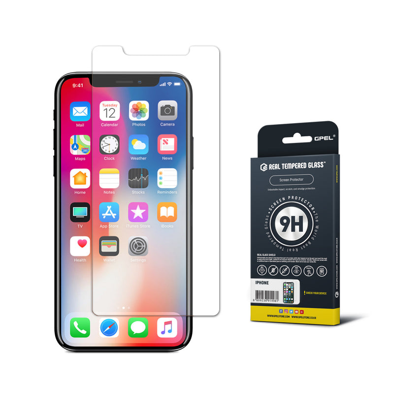iPhone X Screen Protector - Real Tempered Glass (Clear)