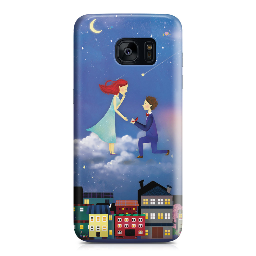 Galaxy S7 Edge Case - If You Be My Star I'll Be Your Sky