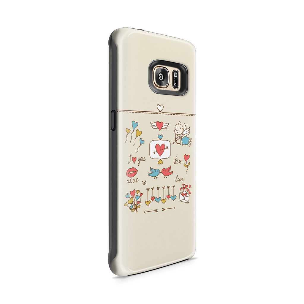Galaxy S7 Edge Adventure Case - Love at First Sight
