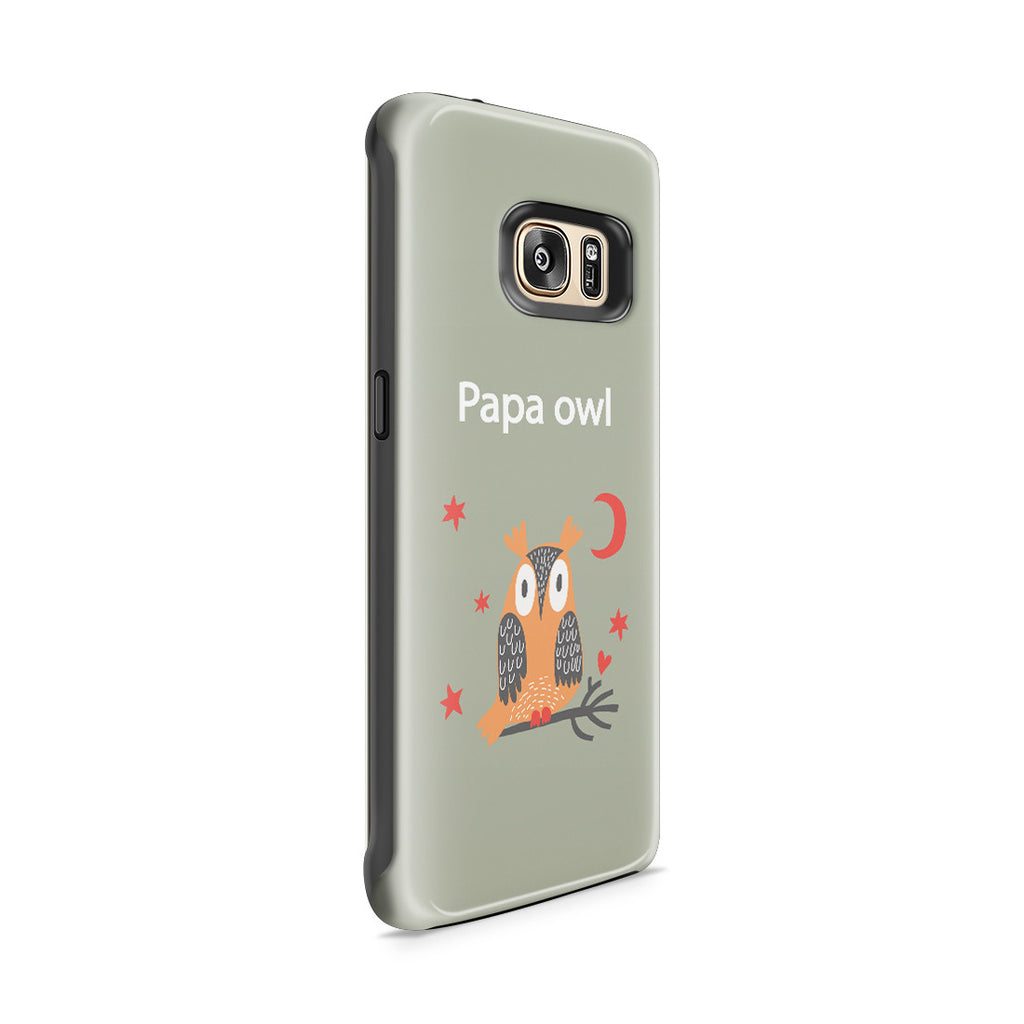 Galaxy S7 Edge Adventure Case - Papa Owl