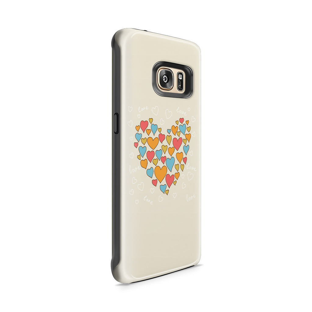 Galaxy S7 Edge Adventure Case - Heart of Hearts