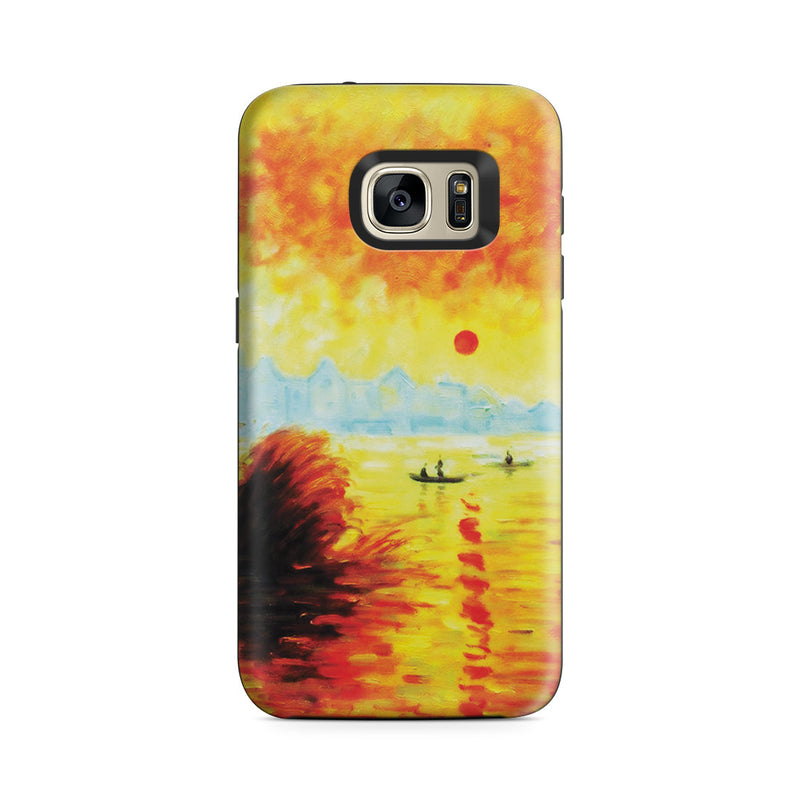 Galaxy S7 Adventure Case - Le Coucher Du Soleil La Seine by Claude Monet