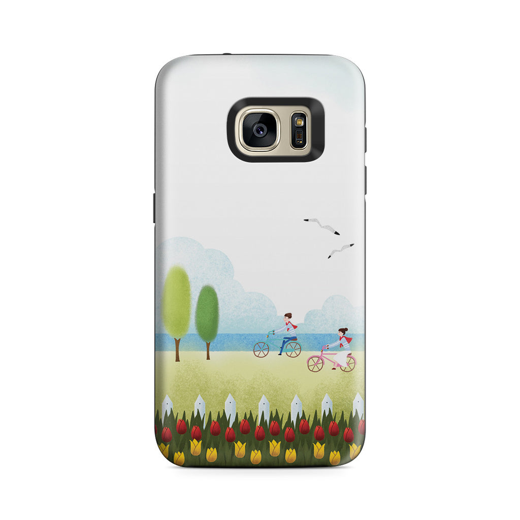 Galaxy S7 Adventure Case - True Love is Two of Us Riding Nowhere