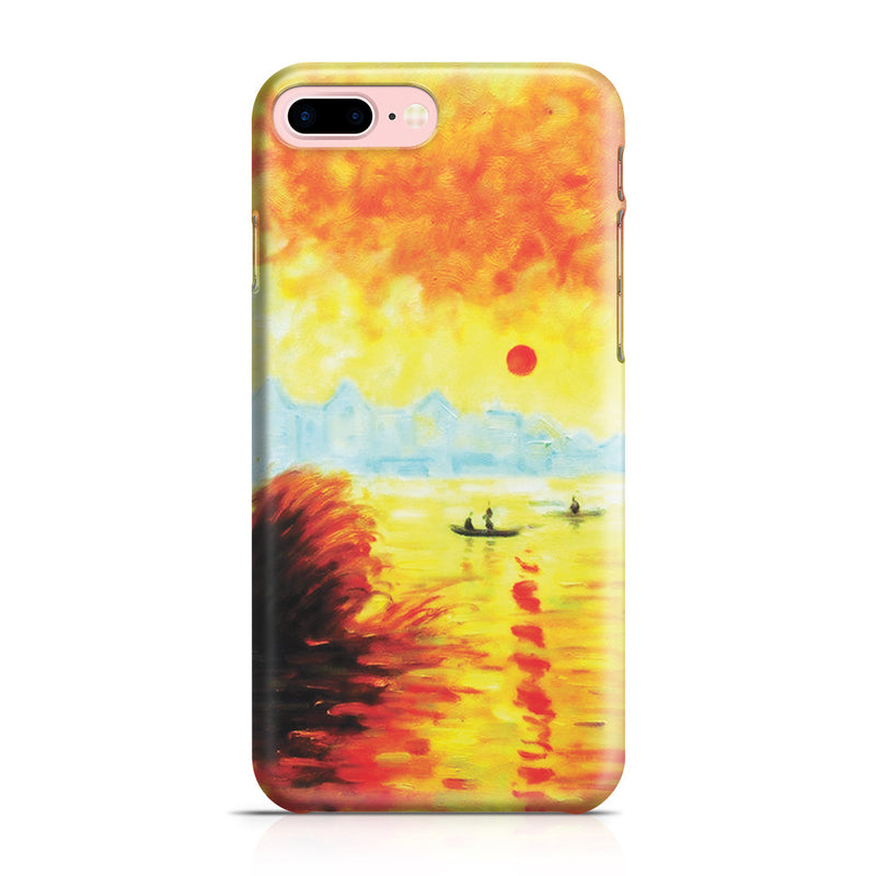 iPhone 7 Plus Case - Le Coucher Du Soleil La Seine by Claude Monet
