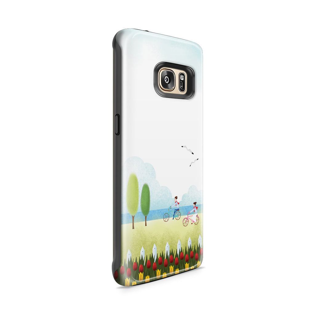 Galaxy S7 Edge Adventure Case - True Love is Two of Us Riding Nowhere